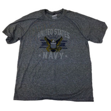 Navy Grey Technical T-Shirt - Made in U.S.A.