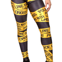 Police Line Leggings Design 209
