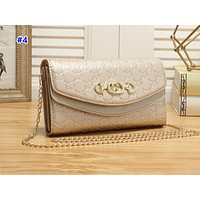 GUCCI popular lady's casual shopping bag fashion embossed monochrome shoulder bag #4
