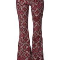 LA Hearts Suede Flare Pants - Womens Pants - Red