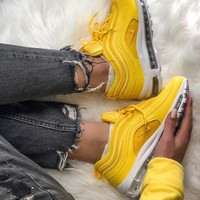 Nike Air Max 97 air cushion yellow Gym shoes