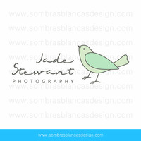 OOAK Premade Logo Design - Jade Bird - Perfect for a jewelry or handmade goods business