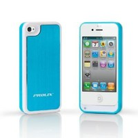 Prolix Power iPhone 4/4S Protective External Battery Case - Fits all versions of iPhone 4 - Aluminum(Blue)