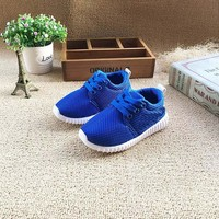 2017 Kid's casual sport shoes Fashion baby Shoes Boys Girls Shoes  Running net Shoes 3 colors 15-19