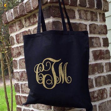 Monogram Tote Bag Bridesmaid Gift Bag Wedding Party Favor Gift Bag Personalized Wedding Gift Bag Monogrammed Tote bag