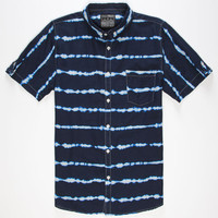 Straight Faded Sea Level Mens Shirt Navy  In Sizes