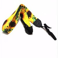 Yellow Sunflower Camera Strap Photographers Gift - CAST27
