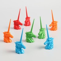 Unicorn Corn on the Cob Holders 8 Count