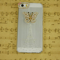 cute iphone 5 case, fashion iphone 4s case, butterfly iphone 5s phone cases, clear cell phone cover, iphone 5s case lovely, women girl gift
