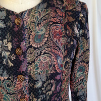 Vintage Gold/Colorful Tapestry Jacket by California Designs (Dorothy Samuel)