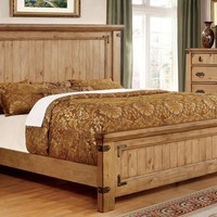 Odessa Cottage Style Queen Panel Headboard Bed