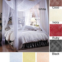 Woven Polyester Four-point Canopy (76' x 84' x 96')   Overstock.com