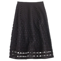J.Crew Womens Perforated Eyelet A-Line Skirt