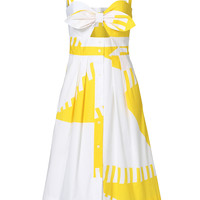 Milly Yellow Printed Jordan Dress