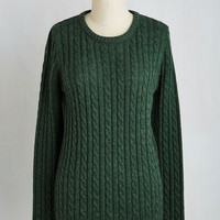 Minimal Mid-length Long Sleeve Chalet It on the Line Sweater in Pine