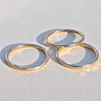 Tiny 14K Gold Filled Ring Set Elizabethan Style by FusedNTwisted