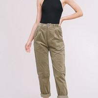 Cute As A Button Corduroy Trousers in Olive