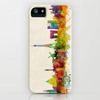 Paris Skyline Watercolor iPhone & iPod Case by ArtPause
