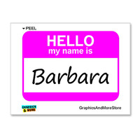 Barbara Hello My Name Is Sticker