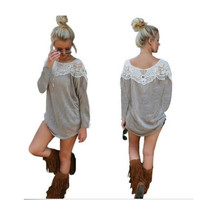 Lace Long-Sleeve Dress Shirt
