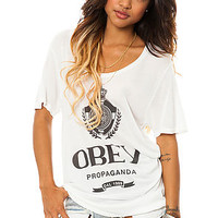 Obey Tee Nada in Natural White