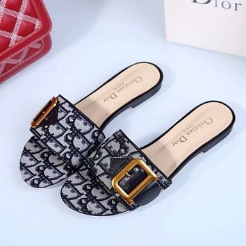 Dior Women's Leather Fashion Sandals