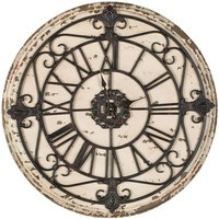 Jerry Clock Distressed Antique Rusty
