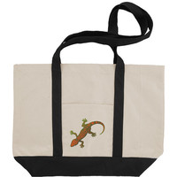 Fire Lizard Canvas Tote