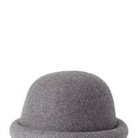 FOREVER 21 Wool Bowler Hat Grey One