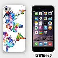 for iPhone 6 - Vintage World Map - Watercolor World Map - Wanderlust - Travel - Free Spirit - Ship from Vietnam - US Registered Brand