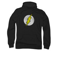 The Flash Distressed Logo Mens Black Pullover Hoodie
