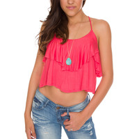 Pam Ruffle Crop Top