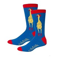 Rubber Chicken Men's Socks in Blue and Red