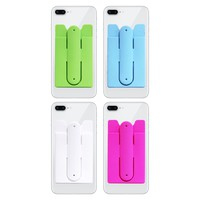 MAXIMALPOWER SILICONE PHONE WALLET WITH ADHESIVE BACK AND KICKSTAND (PACK OF 3 OR 4)