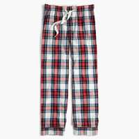 Pajama pant in festive plaid cotton poplin