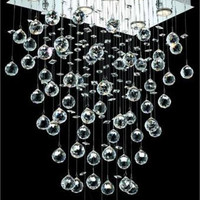 Bernadette - Hanging Fixture (6 Light Contemporary Hanging Crystal Chandelier) - 1718D20