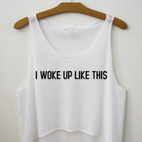 Beyonce Flawless I Woke Up Like This Song Tumblr Summer Crop Top Tank Shirt