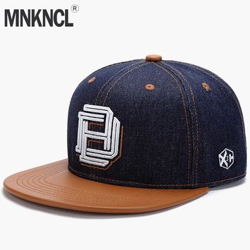 Trendy Winter Jacket MNKNCL High Quality Snapback Cap Letter Embroidery Brand Flat Brim Baseball Cap Fashion Hip Hop Cap and Hat For Men and Woman AT_92_12