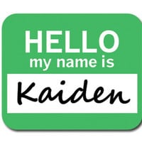 Kaiden Hello My Name Is Mouse Pad