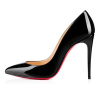 Pigalle Follies 100 Black Patent Leather - Women Shoes - Christian Louboutin