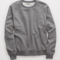 Aerie Vintage Crew Sweatshirt, Dark Heather