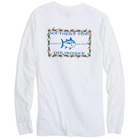 Holiday Skipjack Long Sleeve Tee Shirt in Classic White by Southern Tide
