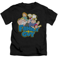 Family Guy Family Fight Black Kids T-Shirt
