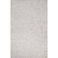 Jaipur Rugs Polyester shag Solid Pattern Ivory/White Polyester Area Rug FL16 (Rectangle)