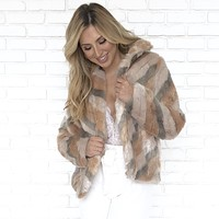 Chic in Fur Zip Up Coat