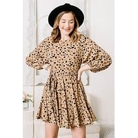 Let It Be Cheetah Spotted Mini Dress
