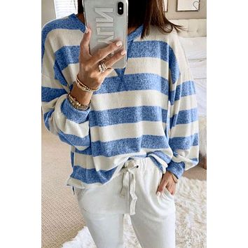 New Wave Top- Blue