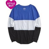 justice colorblock long sleeve tee - Google Search