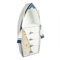 4-Drawer Wooden Boat Cabinet with Oars