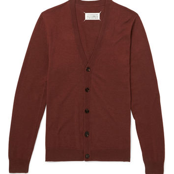 Maison Margiela - Elbow Patch Cotton and Wool-Blend Cardigan
